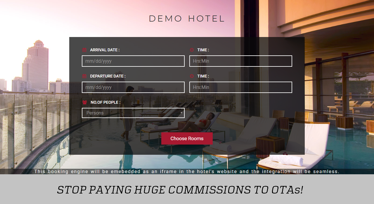 VizConn Hotel Booking Engine
